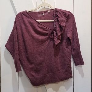 Knitted & knotted Anthropologie purple wool small